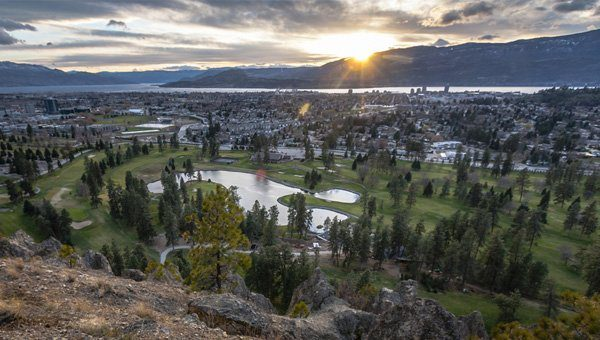 Kelowna Real Estate - Sean Skuter - View of Glenmore from Dilworth mountain