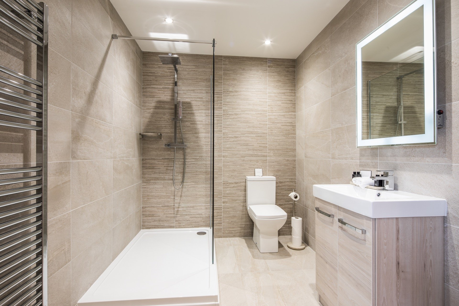 interior of bathroom of open house in Kelowna