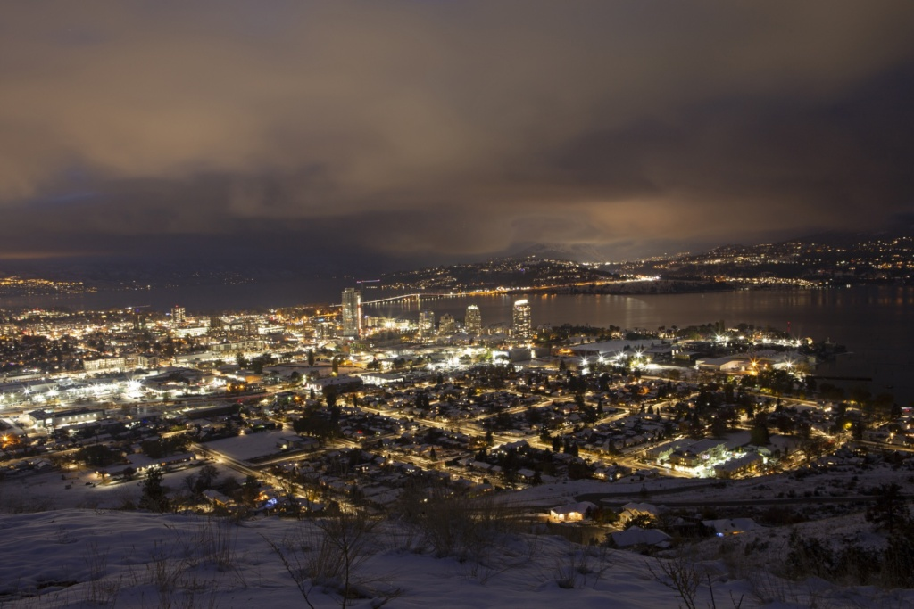 Kelowna at night